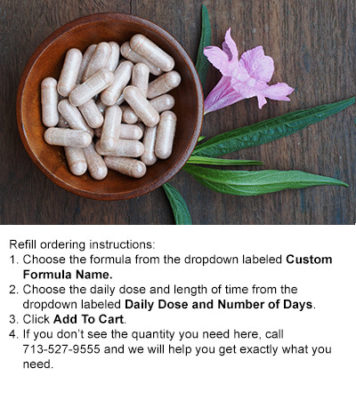 Custom Herbal Capsules Refill